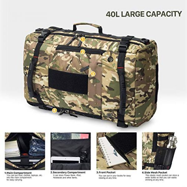 Mardingtop Tactical Backpack 3 Mardingtop 40L Duffle Backpack Molle Travel Sports Gym Carry-On Bag for Men Women