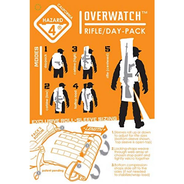 HAZARD 4 Tactical Backpack 6 HAZARD 4 Overwatch(R) Rifle Carry Roll-Pack