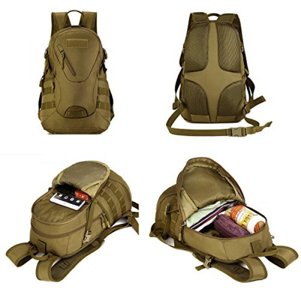 CREATOR Tactical Backpack 3 CREATOR 20L Tactical Backpack Travel Daypack Outdoor Military Rucksack MOLLE for Men