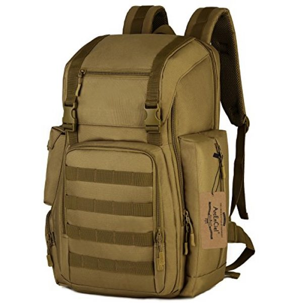 ArcEnCiel Tactical Backpack 1 ArcEnCiel Tactical Backpack Military Army Shoes Bags Daypack Assault Pack Bug Out Bag Molle Rucksack - Rain Cover Included
