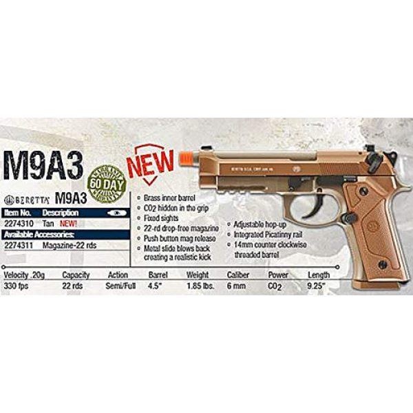 Umarex Airsoft Pistol 5 Umarex Elite Force 2274310 Beretta M9A3 Blowback - FDE 6 mm BB, One Size