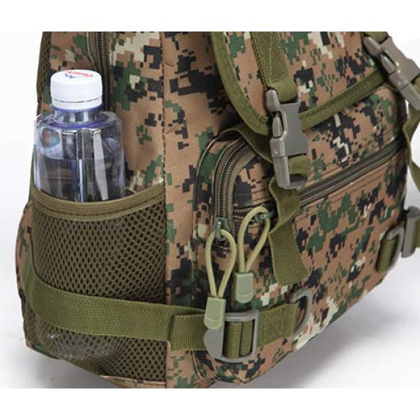 Jipemtra Tactical Backpack 7 Tactical First Aid Bag MOLLE EMT IFAK Backpack Military Emergency (Tan Summer)