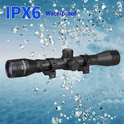 SVBONY Rifle Scope 6 SVBONY SV175 Rifle Scope,4x32,Hunting rifle scope,Ample eye relief,Cross differentiation Reticle,With 20mm Free Mounts