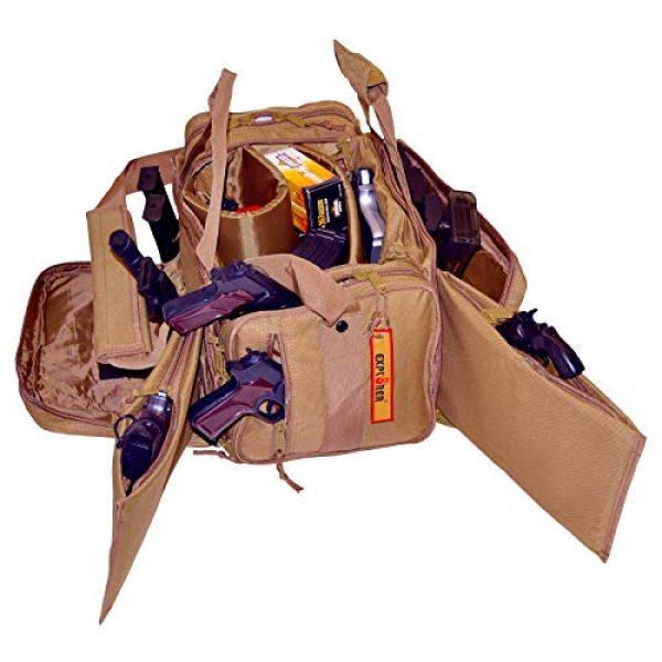 Explorer Tactical Backpack 1 EXPLORER Backpack + Range Bag with Large Padded Deluxe Tactical Divider and 9 Clip Mag Holder - Rangemaster Gear Bag (Brown Tan Range Bag)