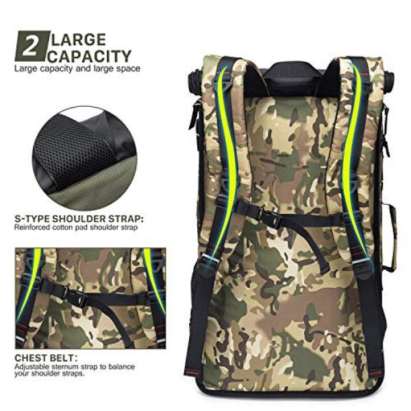 Mardingtop Tactical Backpack 5 Mardingtop 40L Duffle Backpack Molle Travel Sports Gym Carry-On Bag for Men Women