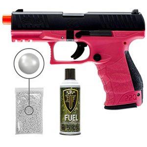 Wearable4U Airsoft Pistol 1 Umarex Elite Force Walther PPQ Green Gas Blowback Pistol GBB Airsoft Gun (Wildberry) with Wearable4U Bundle