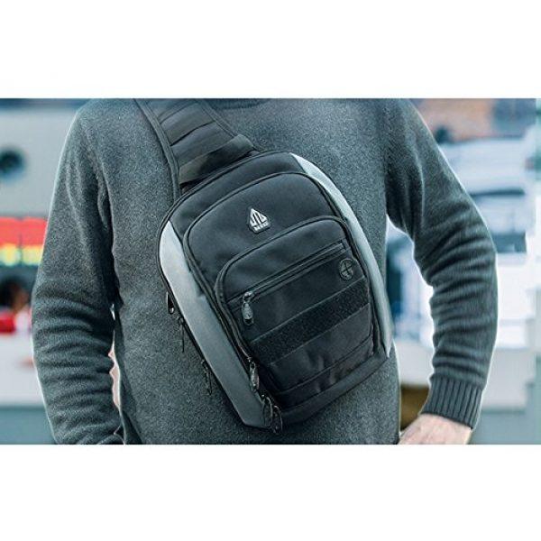 UTG Tactical Backpack 3 UTG Vital Chest Pack/Shoulder Sling Bag,Black/Gun Metal