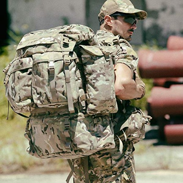 MT Tactical Backpack 7 MT Assembly Military Rucksack Tactical Assault Backpack Hydration Pack System with Frame and Hip Belt Multicam