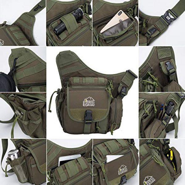 Aveler Tactical Backpack 3 Aveler Nylon Multifunction Sling Bag Tactical MOLLE Military Crossbody Backpack