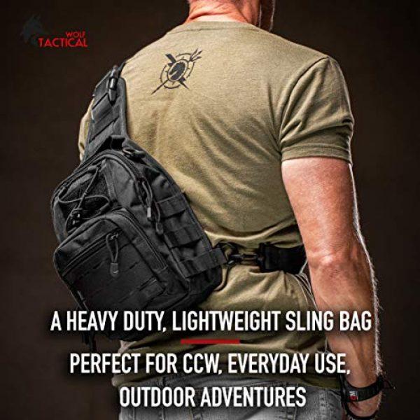 WOLF TACTICAL Tactical Backpack 3 WOLF TACTICAL Compact EDC Sling Bag - Concealed Carry Shoulder Bag for Range, Travel, Hiking, Outdoor Sports