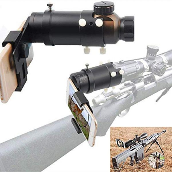 MUJING Rifle Scope 1 MUJING Rifle Scope Adapter Smartphone Mounting System- Smart Shoot Scope Mount Adapter - Display and Record The Discovery