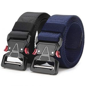 ANDY GRADE Tactical Belt 1 ANDY GRADE Tactical Belts for Men Nylon Adjustable Military Belts Webbing Waist Belt with Heavy Duty Quick Release Metal Buckle