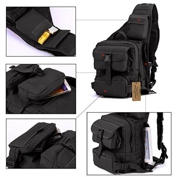 ArcEnCiel Tactical Backpack 4 ArcEnCiel Tactical Sling Pack Military Molle Chest Crossbody Shoulder Bags Motorcycle Backpack