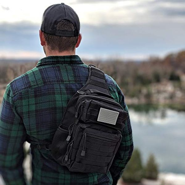 Whiskey Woods Outdoors Tactical Backpack 6 Whiskey Woods Outdoors Military Tactical EDC Sling Bag Molle Shoulder Diaper backpack