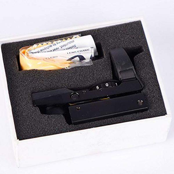 DONGYUCHUN Rifle Scope 4 DONGYUCHUN No Magnification Fast Sight 4 Point Silver Film Holographic Mirror Adjustable Light red dot Sight