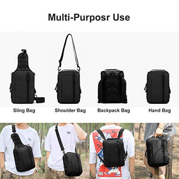 BraveHawk OUTDOORS Tactical Backpack 3 BraveHawk OUTDOORS Sling Shoulder Bag, 800D Military Nylon Multi-Purpose Daypack EDC Crossbody Pack Backpack Handbag