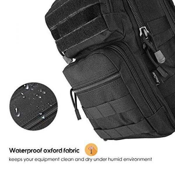 ProCase Tactical Backpack 5 ProCase Tactical Sling Bag Pack with Pistol Holster, Military Rover Sling Shoulder Backpack Outdoor Sport Daypack for Hunting, Trekking and Camping -Black