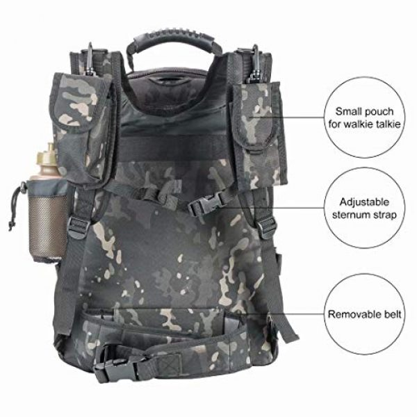 ARMY PANS Tactical Backpack 6 PANS Backpack for Men Large Military Backpack Tactical Travel Backpack for Work,School,Camping,Hunting,Hiking