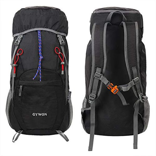 Gywon Tactical Backpack 3 Gywon Hiking-Daypacks-Travel-Backpack-Foldable-Carry-On Cabin Luggage Bag Water Resistant Lightweight 45L