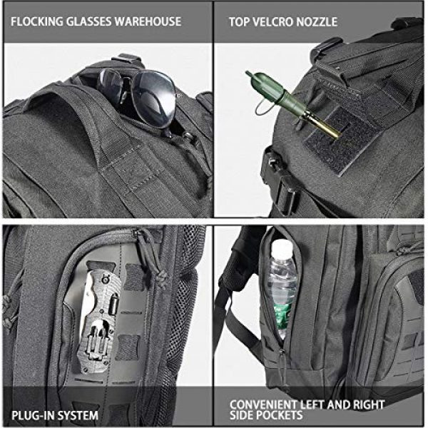 vAv YAKEDA Tactical Backpack 5 vAv YAKEDA Military Tactical Backpack for Men Army 3 Day Assault Pack 42L Large Molle Hiking Backpack