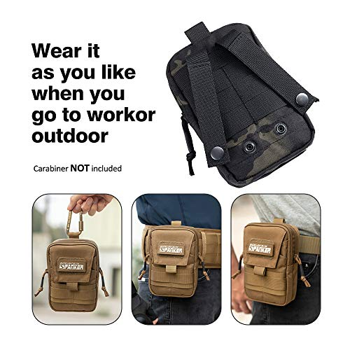 EXCELLENT ELITE SPANKER  3 EXCELLENT ELITE SPANKER Tactical Molle EDC Pouch Nylon Belt Waist Bag Camping Hiking Organizer with Cellphone Holster for iPhone 12Pro 12 11ProMax XsMax XR XS X 8Plus 8 7 6 Samsung Galaxy Note 9 S9