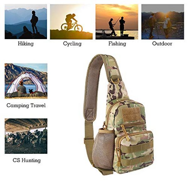 EDOBIL Tactical Backpack 2 EDOBIL Tactical Bag, Messenger Bag Best Outdoor Sling Bag for Men and Women - Small One Military Bag for Trekking,Camping,Hiking,Cycling Rover Sling Daypack