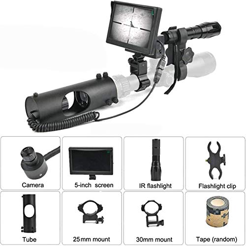 TTHU Rifle Scope 4 TTHU Rifle Scopes DIY Digital Night Vision Scope for Rifle Hunting with HD Camera and 5-Inch Portable Display Screen for Hunting Scopes