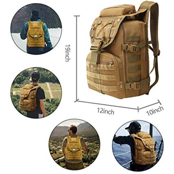 T1FE 1SFE Tactical Backpack 6 T1FE 1SFE Military Tactical Backpack, Tactical Bag, Assault Pack- Molle Bug Out Bag Large