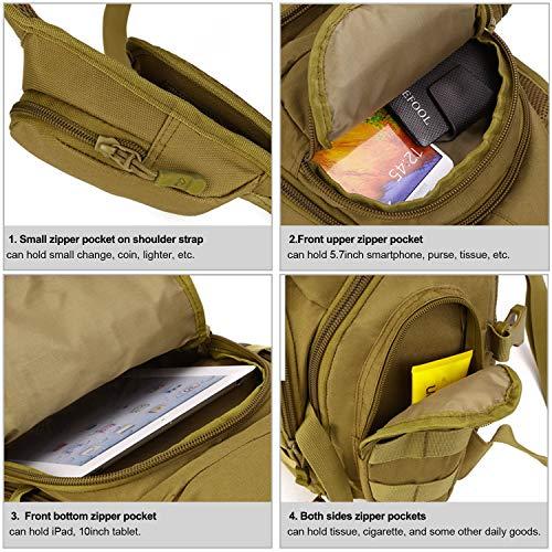 Huntvp Tactical Backpack 5 Huntvp Tactical Sling Backpack Military Daypack Molle Chest Shoulder Bag