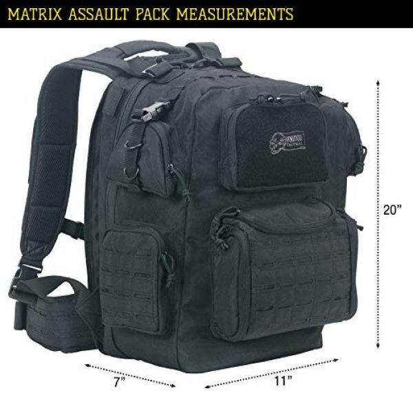VooDoo Tactical Tactical Backpack 5 VooDoo Tactical Men's Matrix Pack, Black