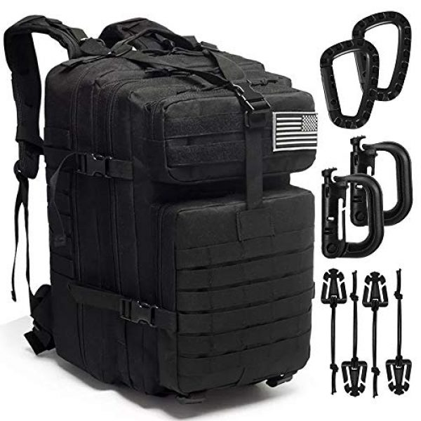 Novemkada Tactical Backpack 1 Tactical Backpack - 1000D Military Molle Army 3 Day Assault Pack Backpacks 40L