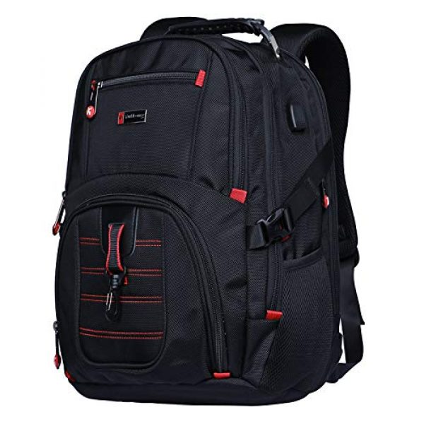 YuHeng Tactical Backpack 1 YuHeng Extra Large Backpack for Men, Water Resistant Travel Business Hiking Backpacks with USB Charging Port fits 17 Inch Laptop
