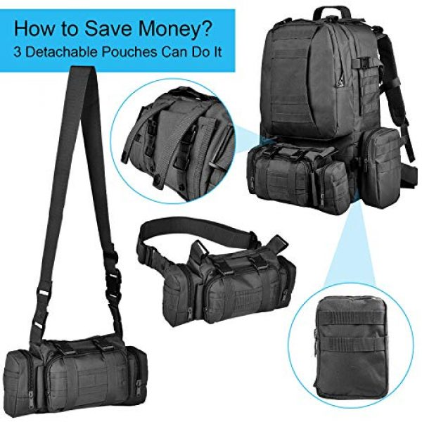 CVLIFE Tactical Backpack 5 CVLIFE Military Tactical Backpack Army Assault Pack Built-up Molle Bag Rucksack