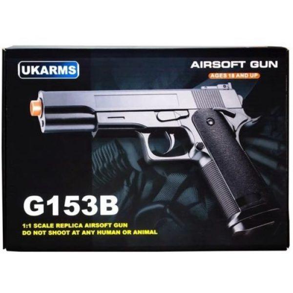 UKARMS Airsoft Pistol 3 UKARMS G153B M1911 Airsoft Spring Pistol Handgun Black 1911