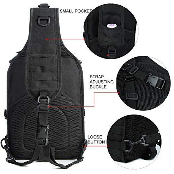 J.CARP Tactical Backpack 3 J.CARP Tactical EDC Sling Bag Pack, Military Rover Shoulder Molle Backpack, with USA Flag Patch