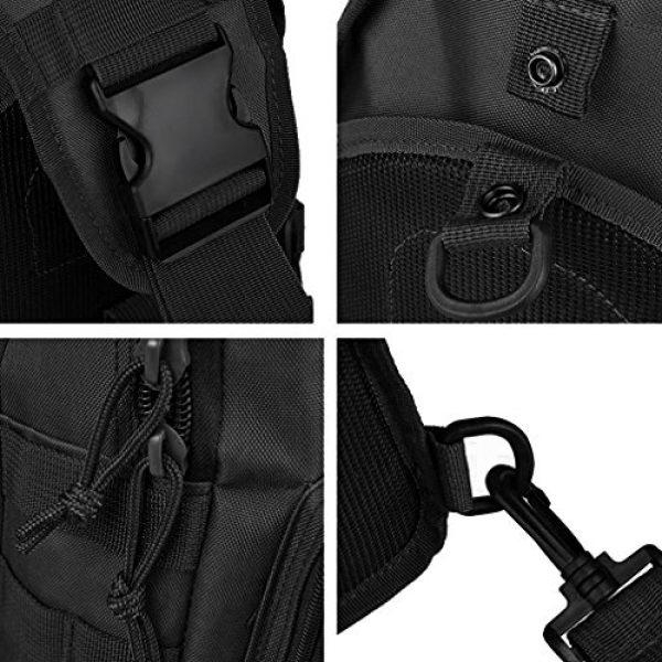 REDGO Tactical Backpack 4 REDGO Tactical Shoulder Chest Bag Military Crossbody Oxford Cloth Comfortable Crossed Backpack for Trekking Camping Hiking