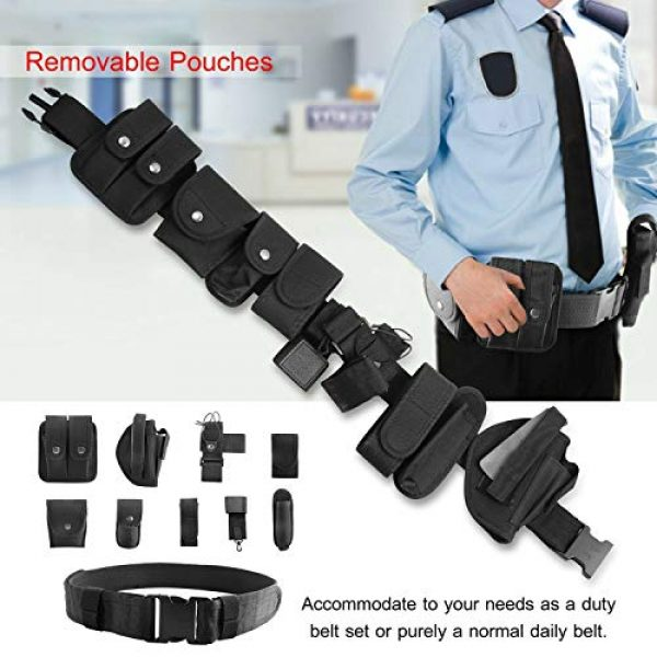 adit_to Tactical Pouch 7 adit_to 1 Pcs Police Security Guard Modular Enforcement Equipment Duty Belt Tactical 800 Nylon