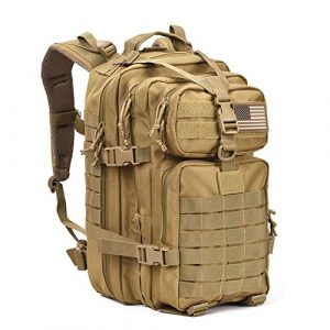 REEBOW GEAR Tactical Backpack 1 Military Tactical Assault Pack Backpack Army Molle Bug Out Bag Backpacks Small Rucksack for Outdoor Hiking Camping Trekking Hunting Brown