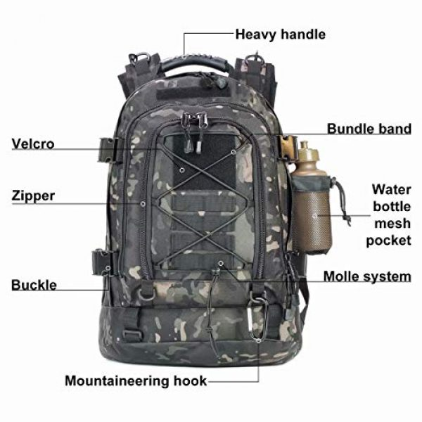 ARMY PANS Tactical Backpack 5 PANS Backpack for Men Large Military Backpack Tactical Travel Backpack for Work,School,Camping,Hunting,Hiking