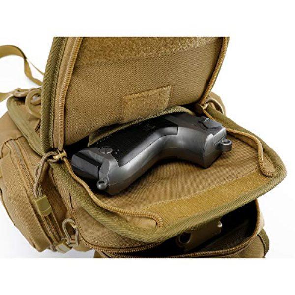 G4Free Tactical Backpack 6 G4Free Tactical EDC Sling Bag Pack with Pistol Holster Sling Shoulder Assault Range Backpack Handgun Gag for Concealed Carry