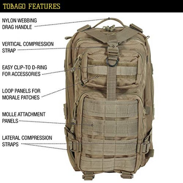 VooDoo Tactical Tactical Backpack 6 VooDoo Tactical Level III MOLLE Compatible Assault Pack