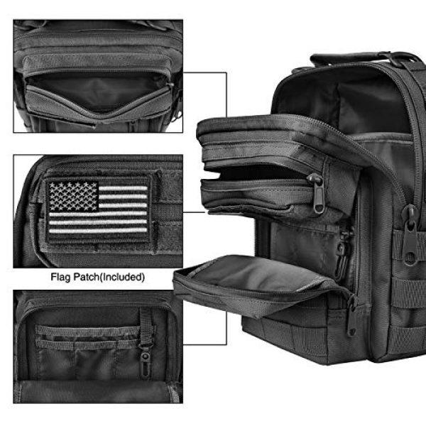 CVLIFE Tactical Backpack 5 CVLIFE Tactical Sling Bag Pack Military Rover Shoulder Sling Backpack Molle Range Bag EDC Small Day Pack with Padding Pocket