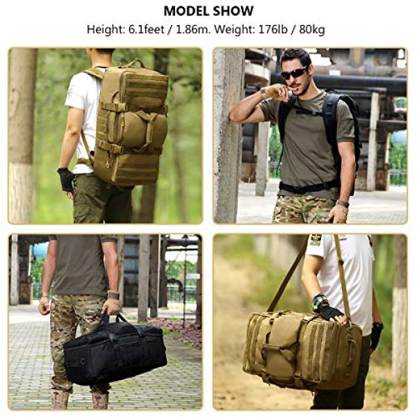 ArcEnCiel Tactical Backpack 3 ArcEnCiel Outdoor Tactical Army Backpack Military Waterproof Camouflage Suitcase Hunting Mountain Sports Luggage Hiking Camping Bag -Rain Cover Included