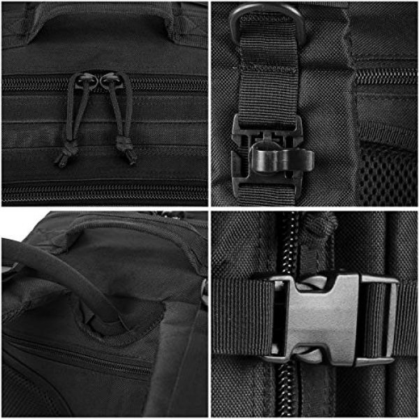 RUPUMPACK Tactical Backpack 6 RUPUMPACK Military Tactical Backpack Large Army 3 Day Assault Pack 42L Camping Survival Rucksack Molle Bug Out Bag with 3L Water Bladder
