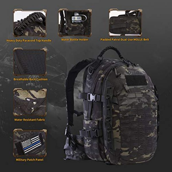 VOTAGOO Tactical Backpack 4 VOTAGOO Tactical Military Backpack Molle Bag Rucksack 30 L Army Assault Pack Outdoor Travel Hiking Camping