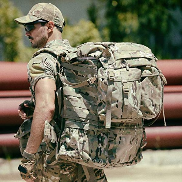 MT Tactical Backpack 6 MT Assembly Military Rucksack Tactical Assault Backpack Hydration Pack System with Frame and Hip Belt Multicam