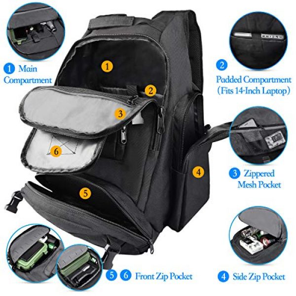 NOOLA Tactical Backpack 2 NOOLA Tactical Military Backpack Army 3 Day Assault Pack Large Rucksack Molle Bag
