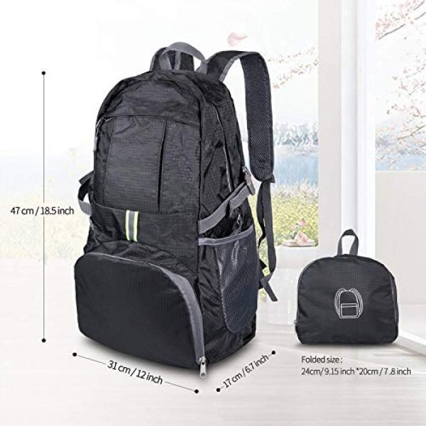 Surcotto Tactical Backpack 3 Surcotto Hiking Backpack, Foldable Water Resistant Daypack Packable Laptop Backpack Outdoor Camping