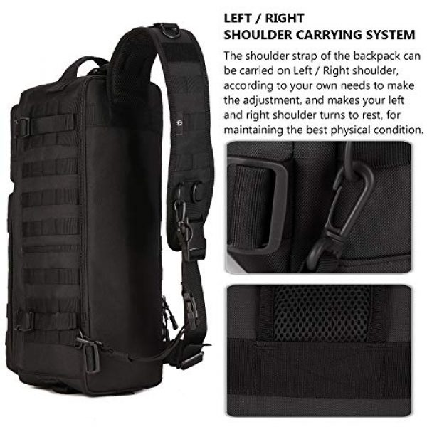 Protector Plus Tactical Backpack 2 Protector Plus Tactical Sling Bag Military MOLLE Crossbody Pack Assault Range Chest Shoulder Backpack EDC Diaper Satchel Motorcycle Bicycle Outdoor Daypack (Patch Included)