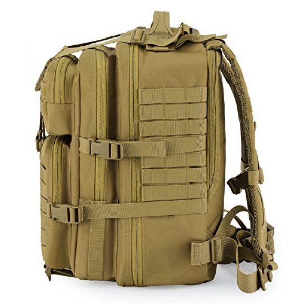 Barbarians Tactical Backpack 3 Barbarians Upgraded SBS Zipper Tactical Molle Backpack, 3 Day Assault Pack for Outdoor Hiking Camping Trekking Hunting 35L